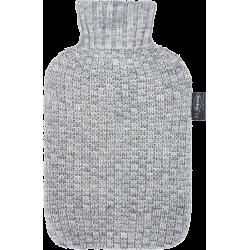 Bouillotte eau tricot gris 2L