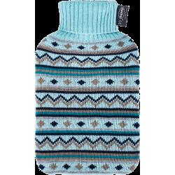 Bouillotte eau tricot bleu 2L